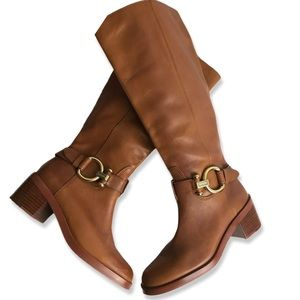 COACH Carolina Extended Boots Saddle color size 5